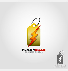 Flash sale logo template vector