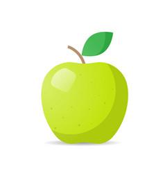 Fresh juicy green apple icon tasty ripe fruit vector