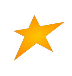 gold star icon gold star metal gradient sign vector image