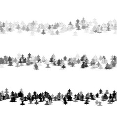 grey seamless random pine tree pattern paragraph vector image