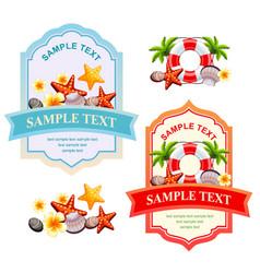 happy summer label vector image