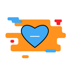 heart icon blue with minus trendy vector image