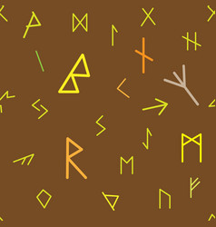 historical runic alphabet seamless wallpaper vector image