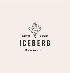 ice berg hipster vintage logo icon vector image