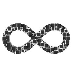 Infinity mosaic of squares and circles vector