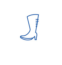 knee high boots line icon concept knee high boots vector image