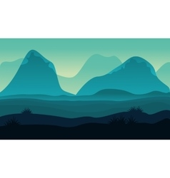 Landscape hight hill of silhouette vector