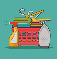 laundry basket icon vector image