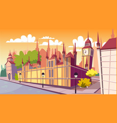 Lodon day cityscape cartoon vector