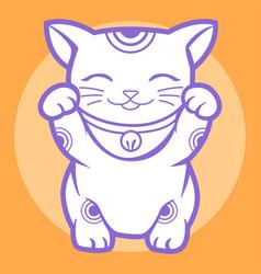 Lucky cat maneki neko japan 06 vector