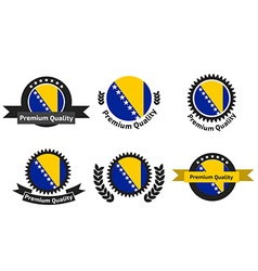 Made in Bosnia and Herzegovina logo set vector