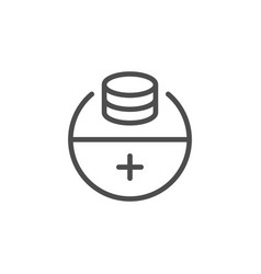 Making profit line icon vector