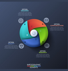 modern infographic design template with circle vector image