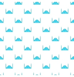 Mosque pattern cartoon style vector