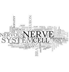 Nerve word cloud concept vector