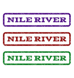 Nile river watermark stamp vector