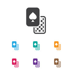 Of gambling symbol on vector