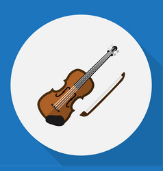 Of media symbol on violin flat vector