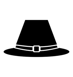 Pilgrim hat icon simple style vector