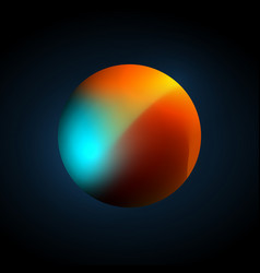 planet color mesh vector image