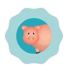 pork animal farm icon vector image