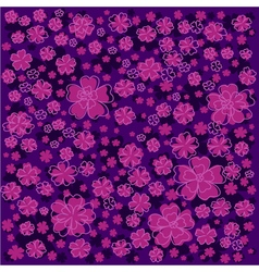 Purple floral pattern with lined and colored vector