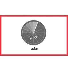 Radar contour outline icon vector image