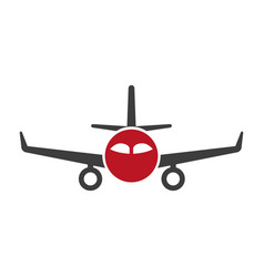 Red and black plane vector