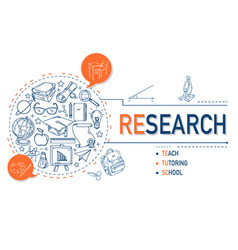 research icons collection design vector image vector image