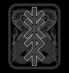 Scandinavian viking design mythological animal vector