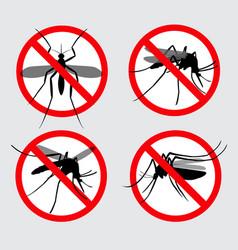 set prohibited aedes aegypti or chikungunya vector image