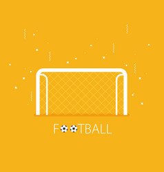 soccer goal flat icon on background vector image