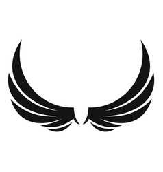 Symbol wings icon simple style vector