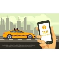 Taxi mobile app service vector