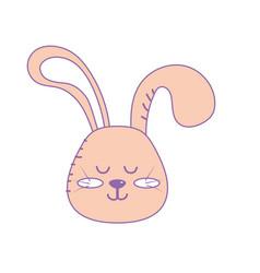Teddy rabbit boy head animal wild vector