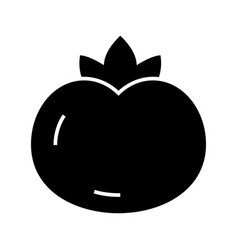 tomato icon black sign on vector image