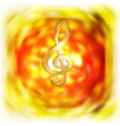 treble clef with bright blurred background vector image