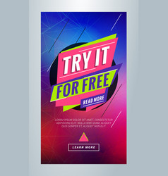 Try it for free editable templates for social vector