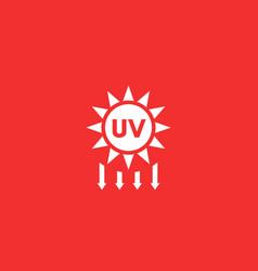 Uv radiation solar ultraviolet icon vector