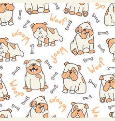 vertical bulldog pattern vector image