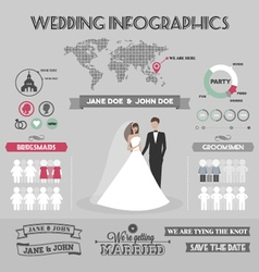 Wedding infographics vector