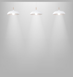 white lamp with grey wall vector image