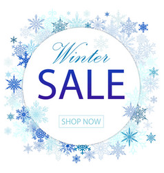 winter sale poster design with vector image