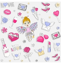 With Love pattern vector