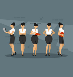 women character in office clothes vector image