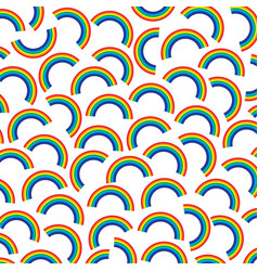 background pattern with rainbows vector image vector image