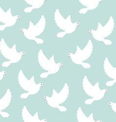 Blue bird pattern vector