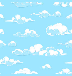 cartoon clouds weather seamless pattern in vector image vector image