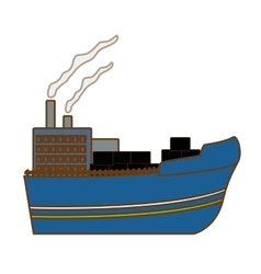 industrial ship icon image vector image