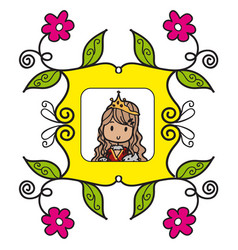 queen doodle style vector image vector image